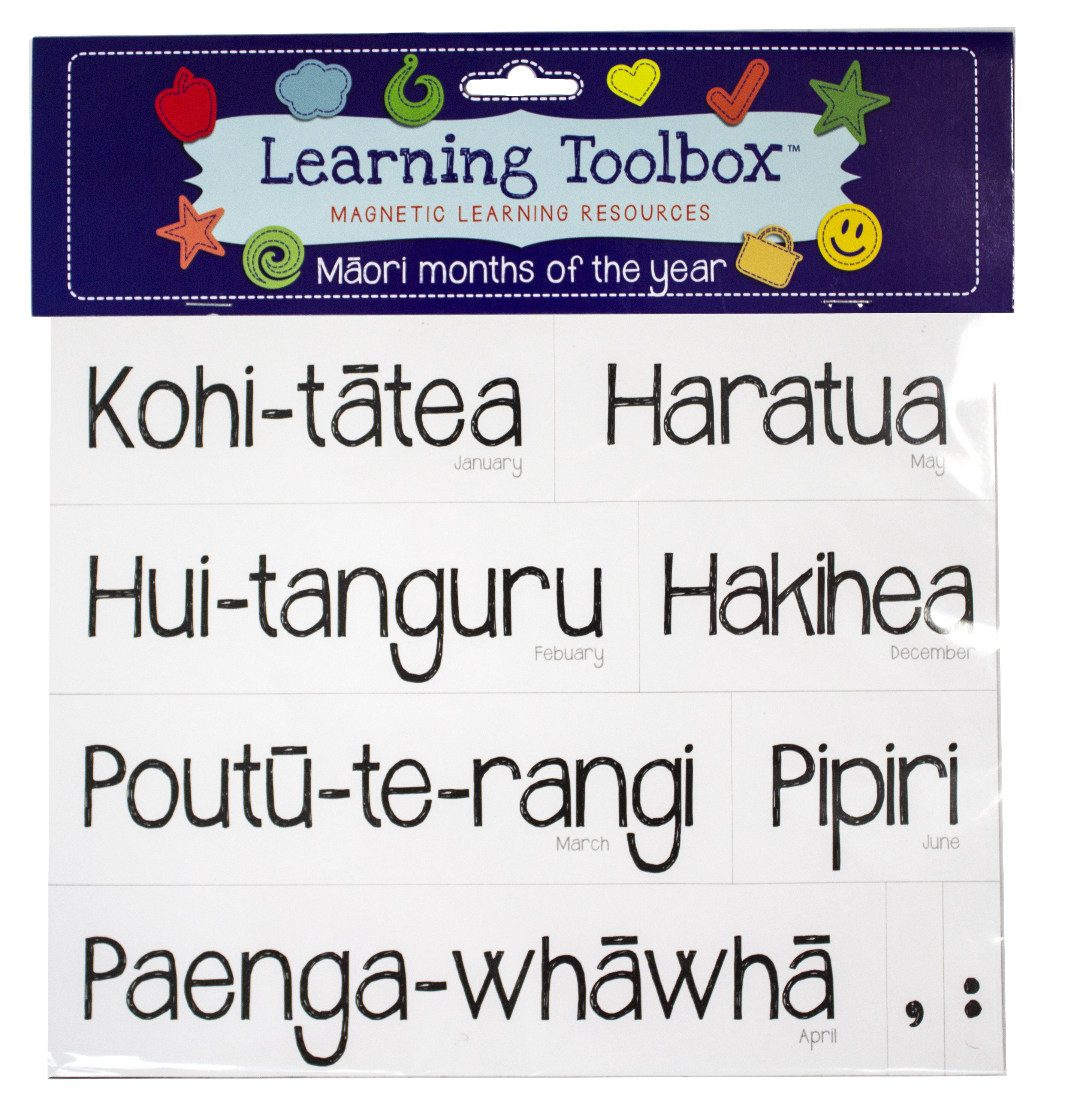 Months Of The Year Magnets In Te Reo Māori