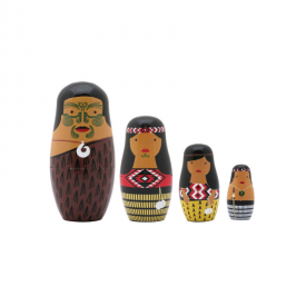 Māori Whānau Nesting Dolls