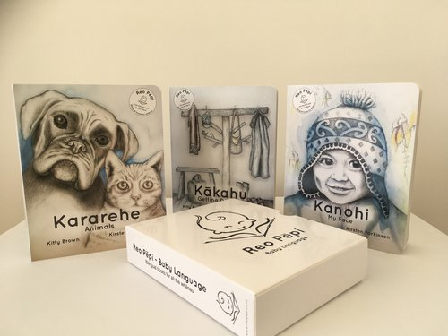 Box Set Of 3 Board Books (1) – Kanohi (My Face), Kararehe (Animals) & Kākahu (Getting Dressed)