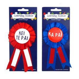 Award Ribbons In Te Reo Māori