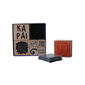 Māori Encouragement Rubber Stamp Pad Set