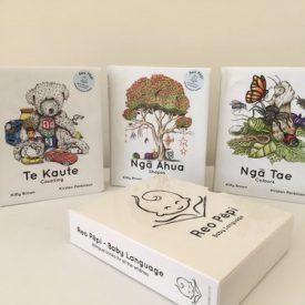 Box Set Of 3 Board Books (2) – Ngā Āhua (Shapes), Ngā Tae (Colours) & Te Kaute (Counting)