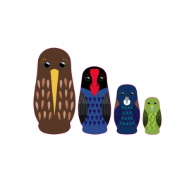 New Zealand Native Bird Nesting Dolls