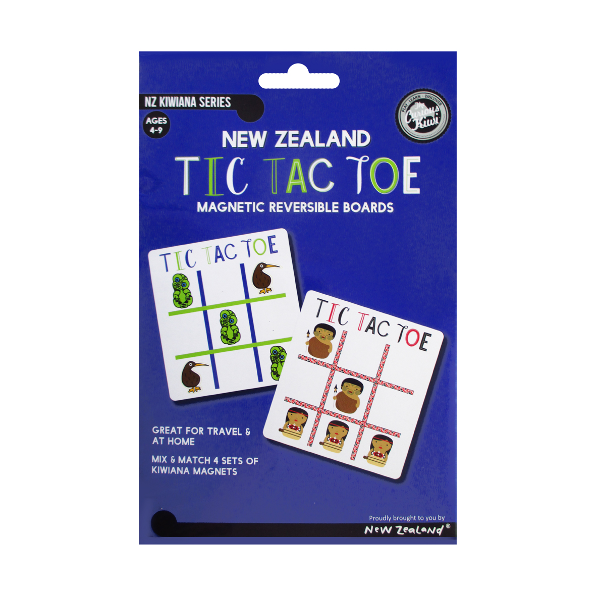 Magnetic New Zealand Tic Tac Toe