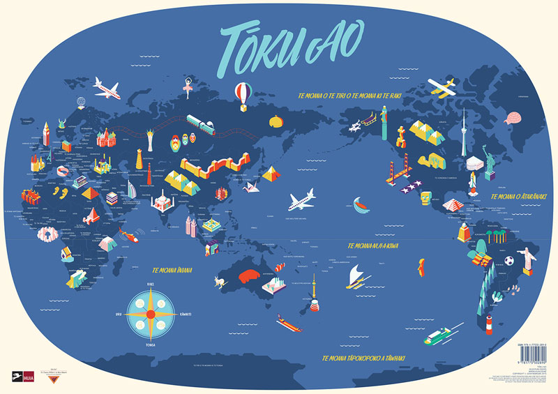 Tōku Ao – My World – Map In Te Reo Māori