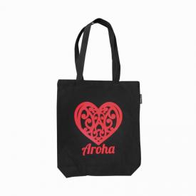 Aroha Canvas Tote Bag (Black)