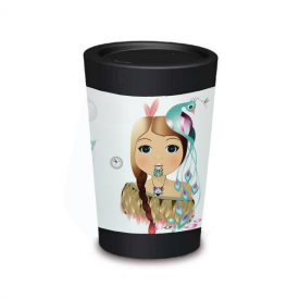 Reusable Cup Design: Little Warrior Girl