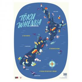 Tōku Whenua Aotearoa – Map Of New Zealand In Te Reo Māori