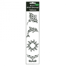 Māori Design Animals & Sun  – Temporary Tattoos