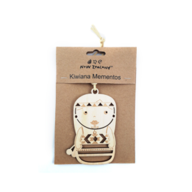 NZ Hanging Ornament – Kapa Haka Kōtiro