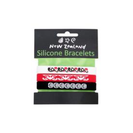 Māori Design Silicone Bracelets (3Pce)