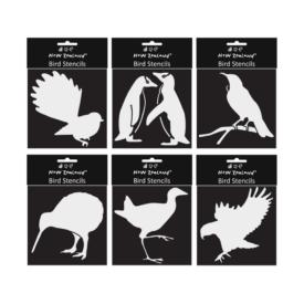 Stencils – NZ Birds (6 Pce)