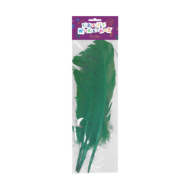 Green Quill Feathers (3 Pce)