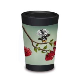 Reusable Cup Design: Pohutukawa Fantail