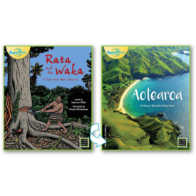 Rata And The Waka & Aotearoa – Flipside Book (Small Book)