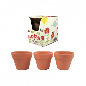 Nature Play Mini Terracotta Plant Pots (3Pce)
