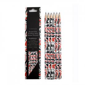 HB Pencils – Kowhaiwhai Design (6 Pce)
