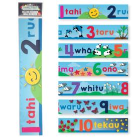 Māori Numbers Wall Border (7 Pce)